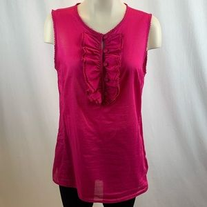Tory Burch Pink Ruffle Sleeveless Blouse 12